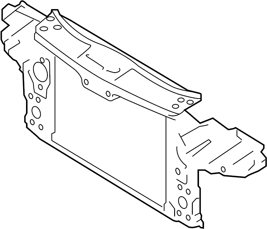 2011 audi q7 lock carrier with mounting for radiator