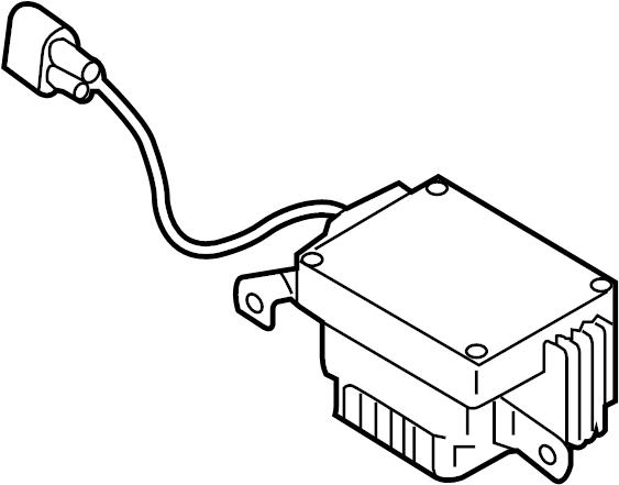 audi a5 control module  controller  engine cooling fan