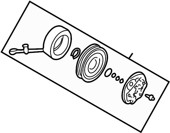 Audi A4 Avant Electro Magnetic Clutch Electromagnetic