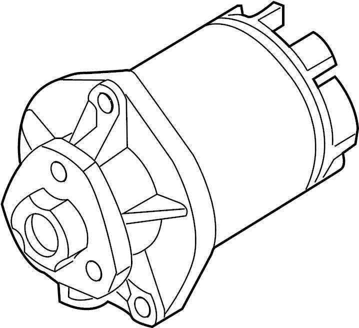2010 audi tt roadster water pump with adhesive gasket